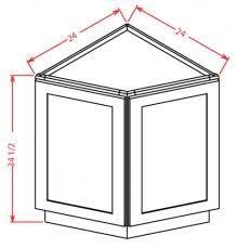 white shaker corner kitchen cabinet bec24 td