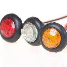 10pcs 0 7 mini waterproof led side marker lights truck trailer