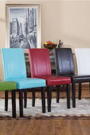 Parsons Chair Leather Leather Parsons Dining Room Chairs Red Leather Dining Chairs For