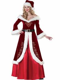 christmas costumes 3 4 sleeves the shoulder mr and mrs santa claus costumes burgundy