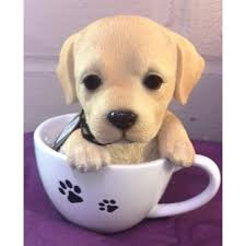 arts tea cup golden labrador puppy ornament petpals