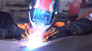 Cool Welding Pictures Man Welder Welds The Parts Of The Structure A Day 4k Guy In