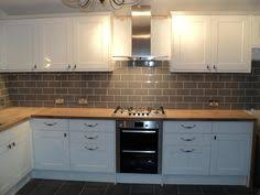 Design Of Kitchen Tiles Kitchen With Grey Tiles And Wooden Worktop Search