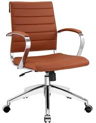ribbed back aria leather office chair modernselections com