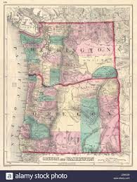Picture Of Map Of Washington by Gray Map Of Washington And Oregon Stock Photos U0026 Gray Map Of