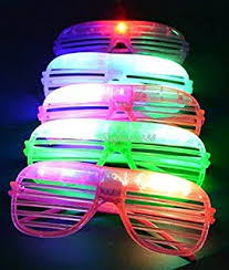 party sunglasses with lights amazon com lvnv toys party favors rave 12ct led light up