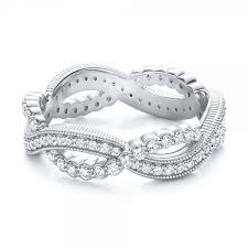 infinity wedding band infinity diamond stackable eternity band 101931