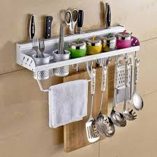 amazon com multifunctional wall hanging aluminum kitchen rack of