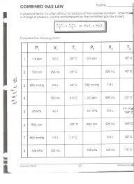combined gas laws worksheet free worksheets library download and