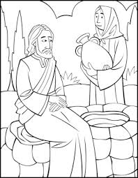 preschool coloring pages woman at the well sunday school coloring page woman at the well