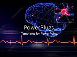 templates for powerpoint brain powerpoint template human brain with a highlighted small part of