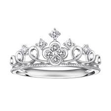 Crown Wedding Rings by Princess Crown Engagement Ring 0 19cttw Diamond Crown Of E Rings
