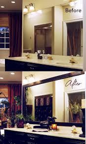 Framing Builder Grade Bathroom Mirror Best 25 Framing Mirror In Bathroom Ideas On Pinterest