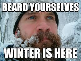 Meme Beard Guy - beard yourselves winter is here frozen beard man quickmeme