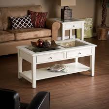 Country Coffee Table by Wood Cocktail Table Shadow Box Display Coffee Glass Top 2 Drawer