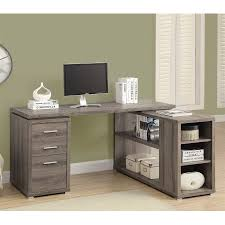 L Shaped Desk Hutch by Shop Monarch Specialties Contemporary L Shaped Desk At Lowes Com