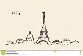 sketch illustration of eiffel tower stock vector image 41309796