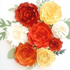 Wall Flower Decor by Large Paper Flowers Diy Templates And Ready To Ship Paperflora