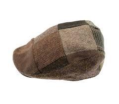 Patchwork Cap - hats brown donegal patchwork hat
