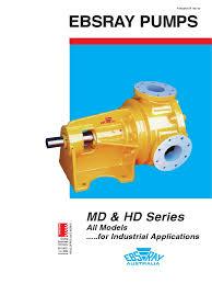 md u0026 hd series pdf bearing mechanical pump