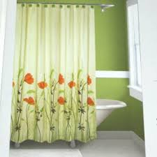 Orange Shower Curtains Springmaid Chantal Orange Green Brown Fabric Shower Curtain Target