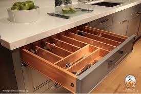 kitchen utensil drawer insert crafted in cherry with matching