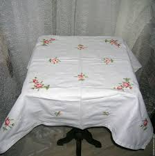 buy vintage embroidered tablecloth provence