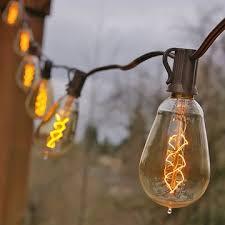 vintage light bulb strands bulb string lights 25 foot brown wire st15 spiral bulb