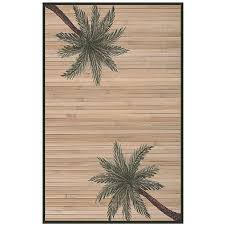 woven palm tree rayon from bamboo rug 5 x 8 free