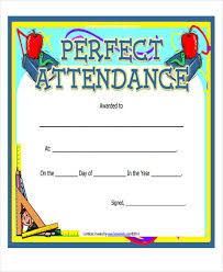 doc 960720 free perfect attendance certificate template