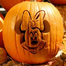 minnie mouse pumpkin carving template disney family