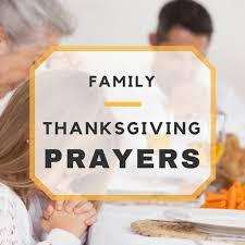 thanksgiving lovely thanksgiving prayers for family