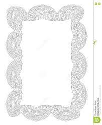 decorative lace frame coloring page stock illustration image