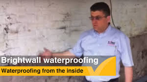 basement wall waterproofing using brightwall youtube