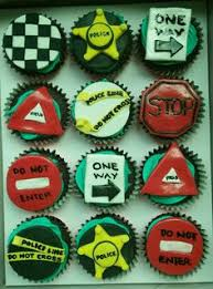 Cupcakes Design Ideas Police Themed Cupcakes Design Ideas Provided By Client My Cake