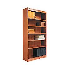 Corner Bookcase Cherry Alera Square Corner Bookcase 6 Shelf 72 H Medium Cherry By Office