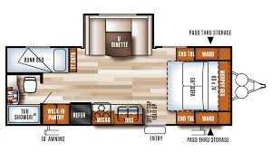 Travel Trailer Floor Plans With Bunk Beds by 2017 Forest River Salem Cruise Lite 230bhxl Model