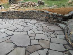 Dry Laid Flagstone Patio Dry Stone Patio Wall And Steps Masonry Picture Post