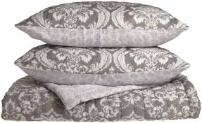 Linen Covers Gray Print Pillows White Walls Grey Bedroom Fascinating Bedroom Decoration With King Quilt Sets Plus
