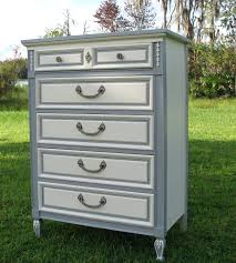 Bedroom Furniture Painted With Chalk Paint Shabby Chic Dresser Painted Furniture Gray And White French