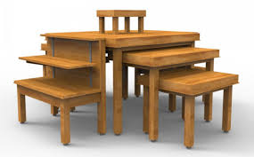Nesting Dining Table Bakery Nesting Tables Cayuga Displays