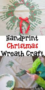 christmas handprint wreath homemade gift idea easy homemade