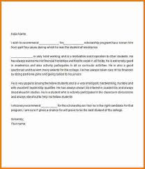 4 recommendation letter for scholarship expense report