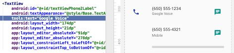 layout line android tools attributes reference android studio android developers