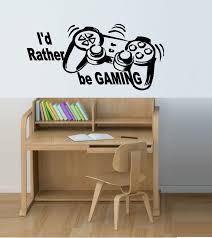 online get cheap wall gaming stickers aliexpress com alibaba group i 39 d rather be gaming wall decal sticker for kids room free shipping