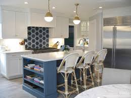 white kitchen cabinets with blue island gray blue island with white perimiter cabinets nkba
