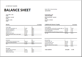 Excel Balance Sheet Template by Balance Sheet Assets And Liabilities Format Template Exle