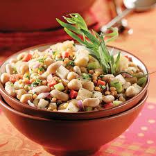 cuisiner haricots blancs salade de légumineuses aux haricots blancs recettes cuisine et