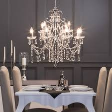 Dining Room With Chandelier 12 Light Madonna Chandelier In Chrome Dining Room