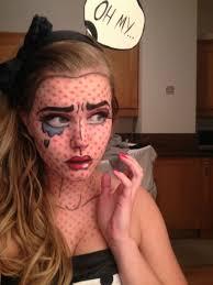 comic strip halloween makeup pop art roy lichtenstein makeup imgur great halloween
